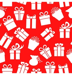 gift pattern red vector image vector image