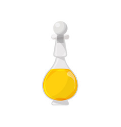glass bottle filled with veegetable oil organic vector image