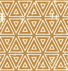 Grunge geometric seamless pattern vintage repeat vector image vector image