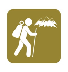 Hiking icon isolated sign symbol vector image vector image