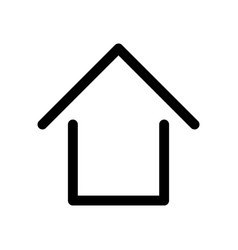 home sign symbol of house outline modern design vector image vector image
