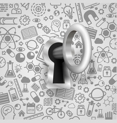 key 3d lock protection technology many icons vector image