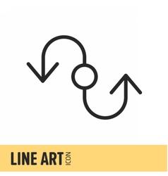 Line art icon vector