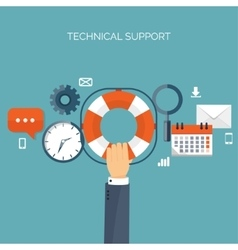 Online support concept vector image vector image
