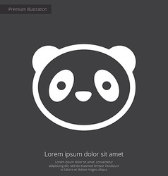 Panda premium icon white on dark background vector