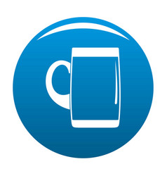 Pint of beer icon blue vector