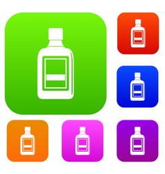 plastic bottle set color collection vector image vector image