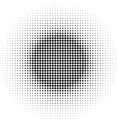 Radial graphical black and white gradient halftone vector