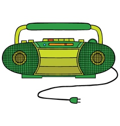 Radio cassette player vector