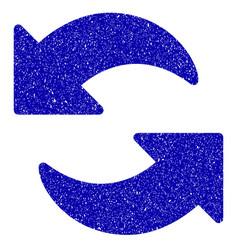 refresh icon grunge watermark vector image vector image