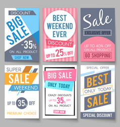 sale posters template with discount and vector image vector image