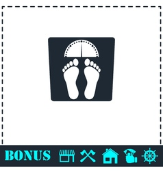 Scales icon flat vector image vector image