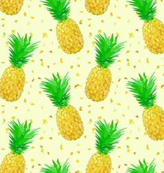 Sparse low poly pineapple pattern vector
