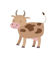 Spotted Brown Cow Standing vector image vector image