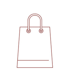 trapezoid shopping bag icon with handle in dark vector image vector image