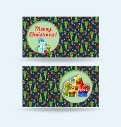 two holiday banner set vector image vector image