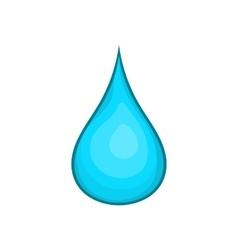 Water drop icon cartoon style vector