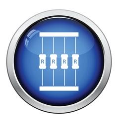 Resistor tape icon vector image
