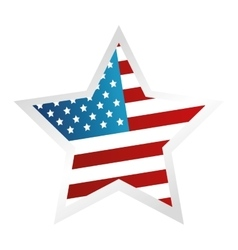 Usa symbol flag star isolated design vector