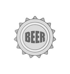Cover beer icon black monochrome style vector