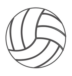 Grayscale contour with volleyball ball vector