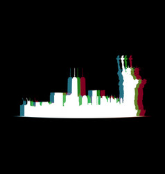 isolated new york cityscape vector image
