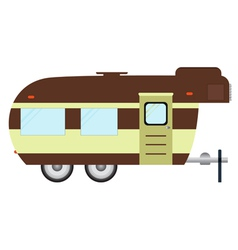Rv camping logo and badge isolated on white backg vector