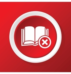 Remove book icon on red vector