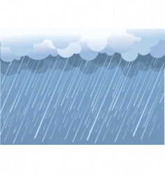 Wet day landscape vector