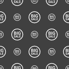 Big sale icon sign seamless pattern on a gray vector