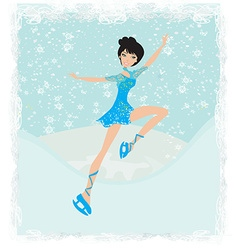 Beautiful ice skater vector