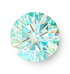Precious gem isolated on white background vector