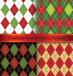 Christmas argyle pattern design set 1 vector