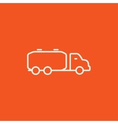 Truck liquid cargo line icon vector