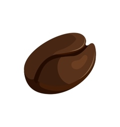 Coffee bean icon cartoon style vector