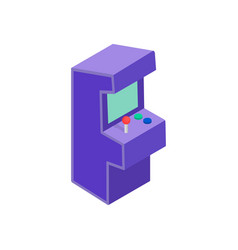 Arcade game machine icon isometric 3d style vector image