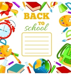 Back To School cover for children exercise book vector image vector image