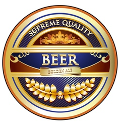 Beer Label - Ornate Vintage Design vector image vector image