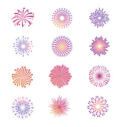 bright festive fireworks star explosion vector image