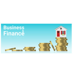 business and finance concept background vector image vector image