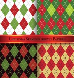Christmas argyle pattern design set 1 vector