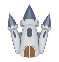 Cute castle icon cartoon style vector