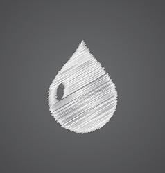 Drop sketch logo doodle icon vector