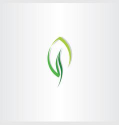 eco leaf green design logo icon vector image vector image