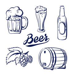 Icon set beer vector
