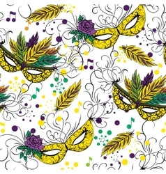 Mardi gras or shrove tuesday seamless pattern vector