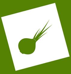 Onion sign salad ingredient healthy vegetable vector
