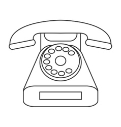 Rotary phone icon vector