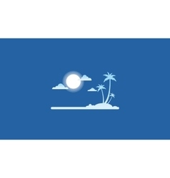 Silhouette of island flat style vector
