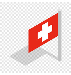 switzerland flag isometric icon vector image